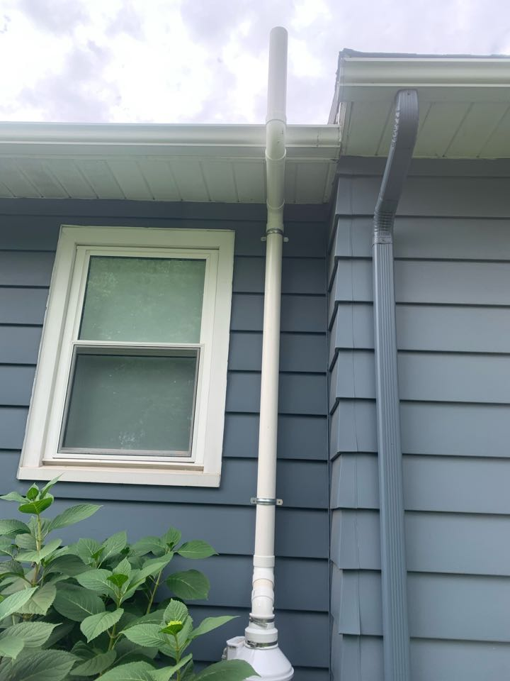 Georgetown Township, MI - Our radon mitigation specialists just installed another radon mitigation system for this house that was found to have high levels of radon gas. This job went great, the radon fan was installed on the exterior in a good location where it's hidden on the backside of the house.