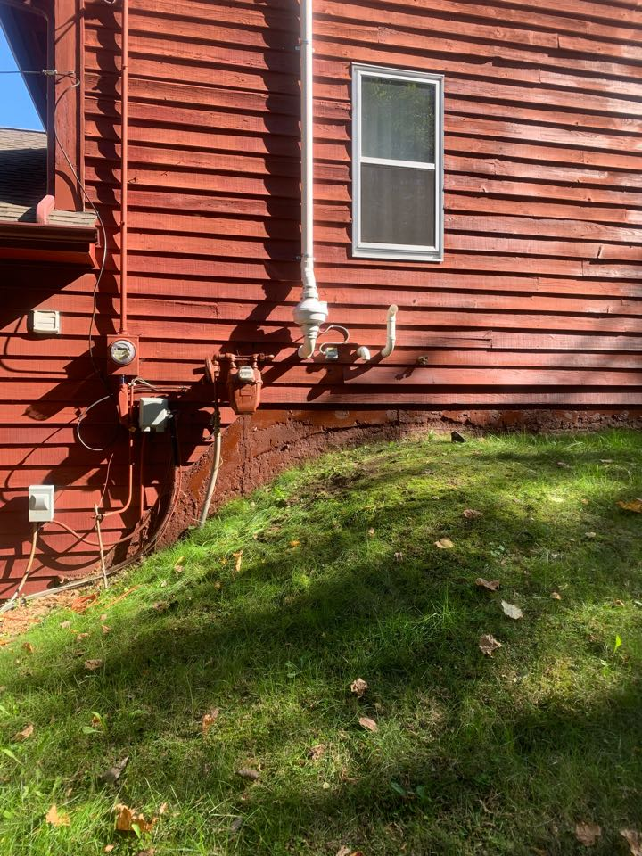 Grand Rapids, MI - Another radon mitigation system installed by our company Schultz Pest Control and Radon Services.