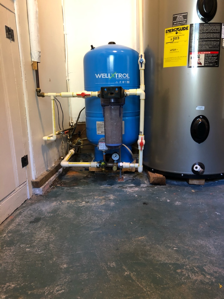 Bozman, MD - Well tank replacement