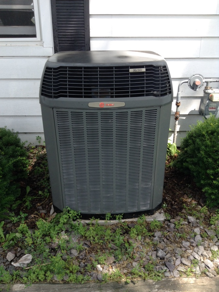 Dane, WI - Air Conditioner service.  Performed annual maintenance on Trane XLi14 air conditioner.