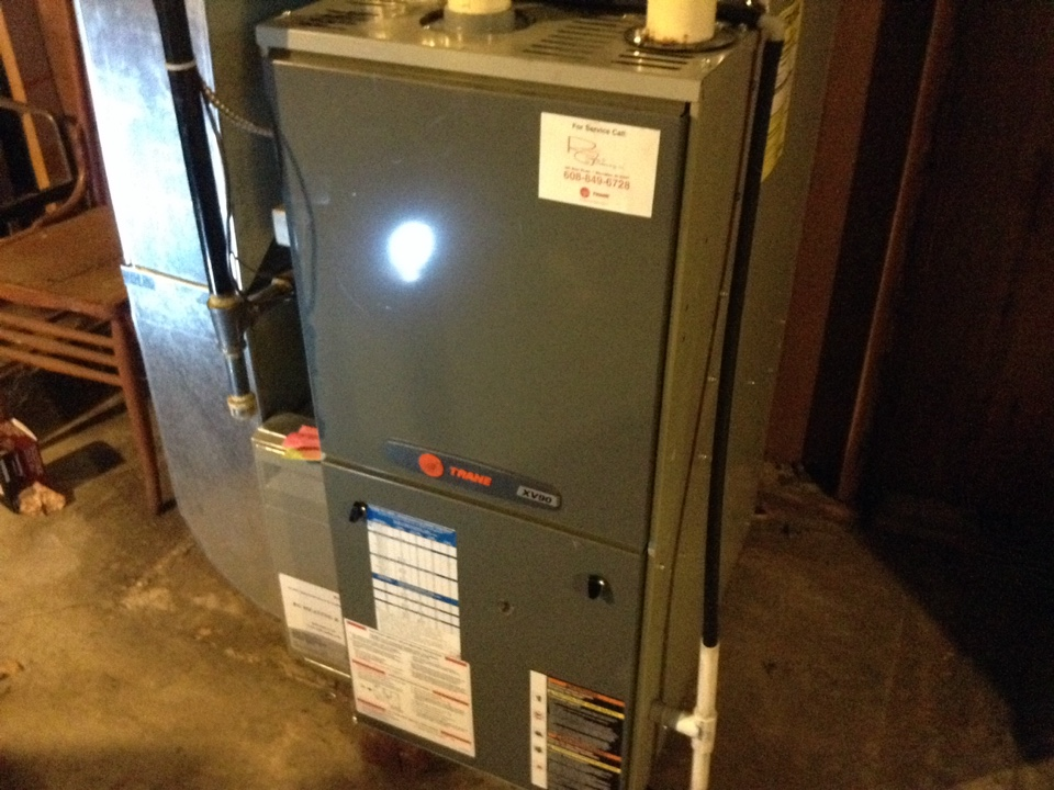 Black Earth, WI - Furnace maintenance on Trane furnace