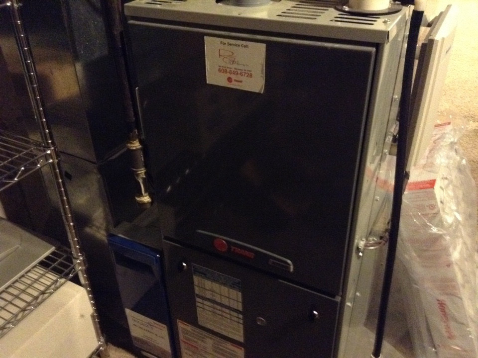 Oregon, WI - Furnace maintenance on Trane furnace & humidifier
