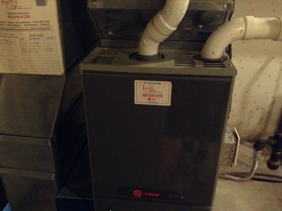 Belleville, WI - Furnace maintenance on Trane furnace