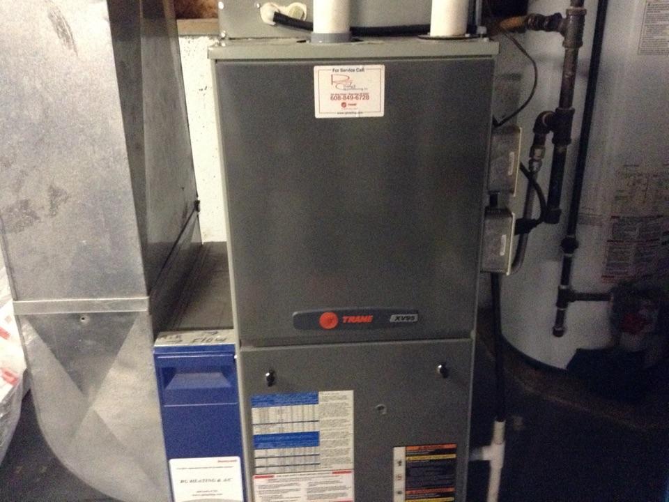 Cross Plains, WI - Furnace maintenance on Trane furnace