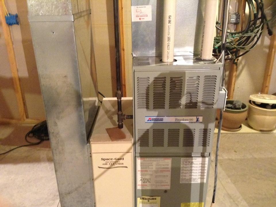 Belleville, WI - Furnace maintenance on American standard furnace