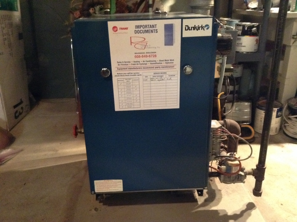 Cross Plains, WI - Boiler repair and maintenance  on Dunkirk
