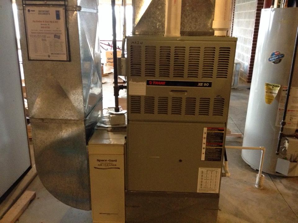 Cross Plains, WI - Furnace maintenance on two Trane furnaces