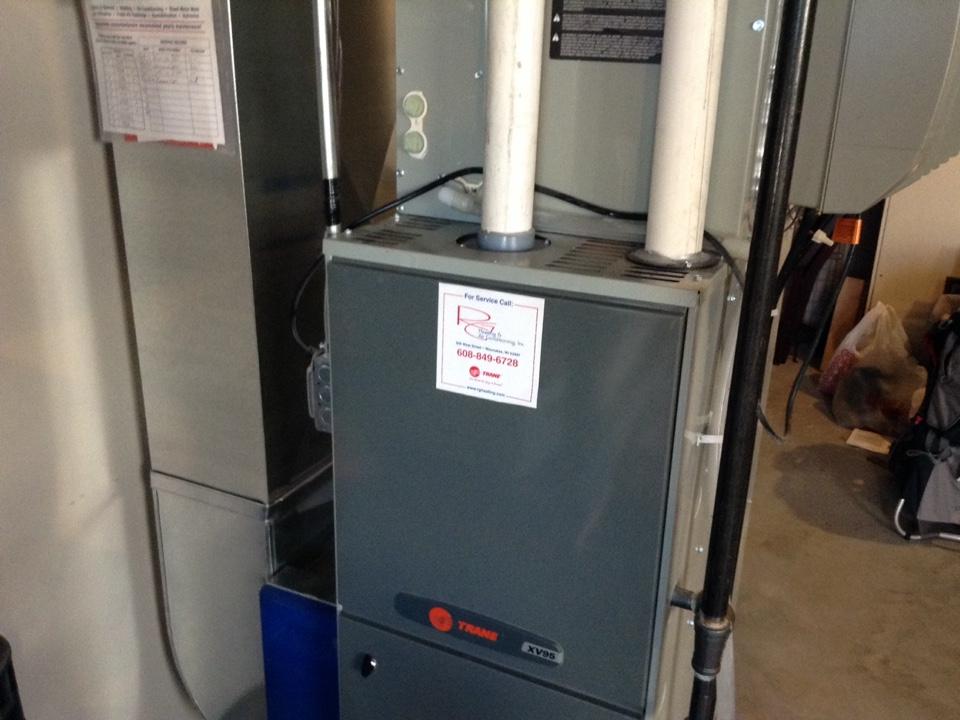 Mount Horeb, WI - Furnace maintenance on Trane furnace