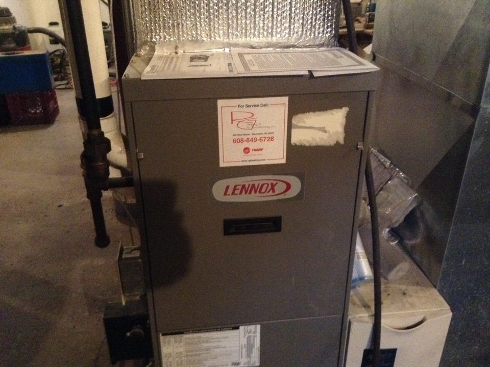 Cross Plains, WI - Furnace maintenance on two Lennox furnaces.