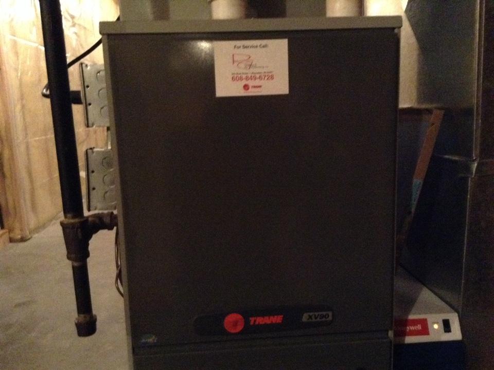 Lodi, WI - Furnace maintenance on Trane furnace