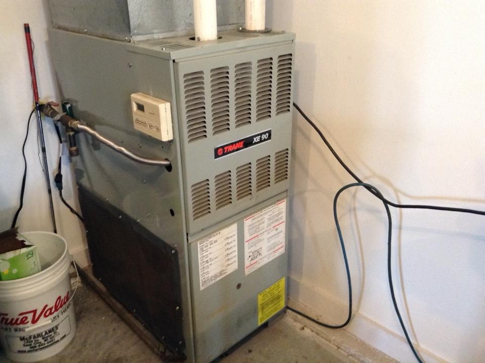 Sauk City, WI - Furnace maintenance on two Trane furnaces