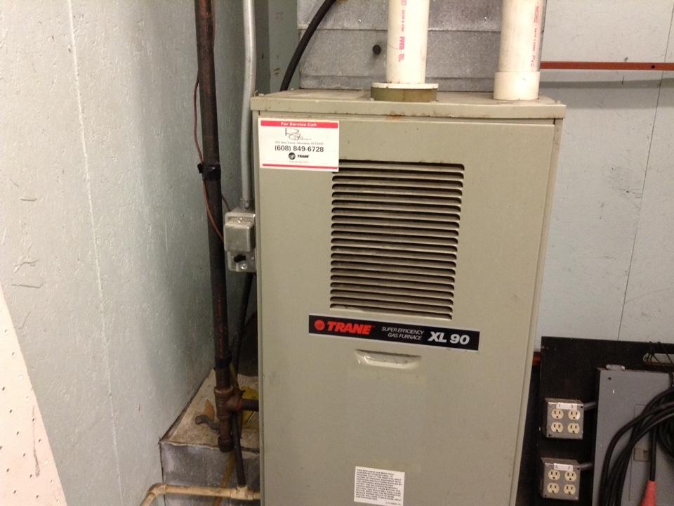 Sauk City, WI - Furnace maintenance on three Trane furnaces and one Modine heater