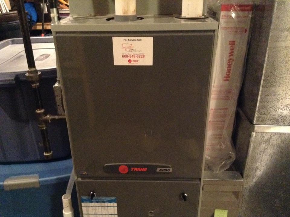 Sauk City, WI - Furnace maintenance on Trane furnace