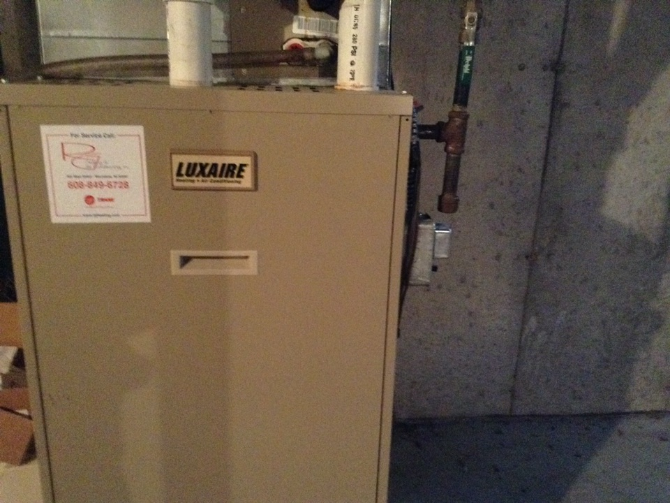 Dane, WI - Furnace repair on Luxaire furnace