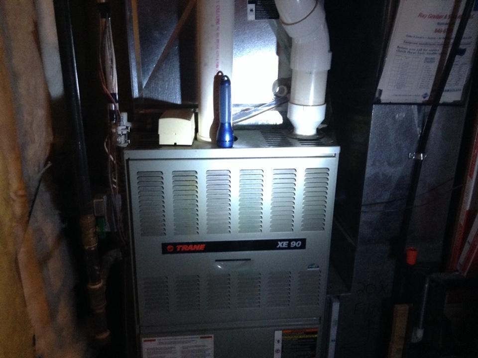 Lodi, WI - Furnace maintenance on a Trane furnace
