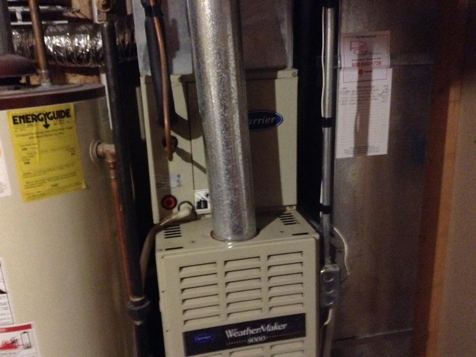 Sun Prairie, WI - Furnace maintenance on Carrier furnace