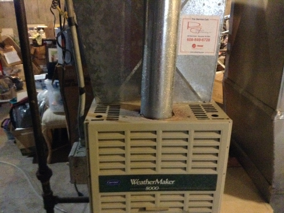 Verona, WI - Furnace repair on a Carrier
