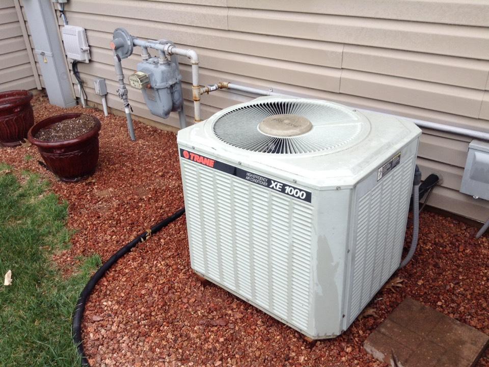 Verona, WI - Air conditioner maintenance on a Trane