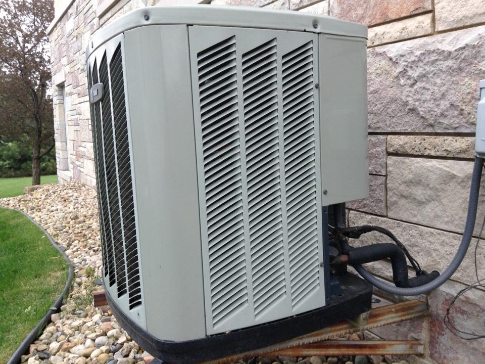 Oregon, WI - Air conditioner maintenance on a Trane A/C