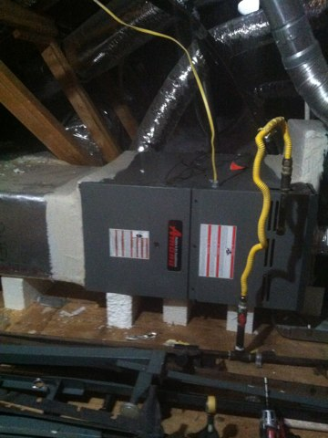 Ac check and found an Amana system doing a great job