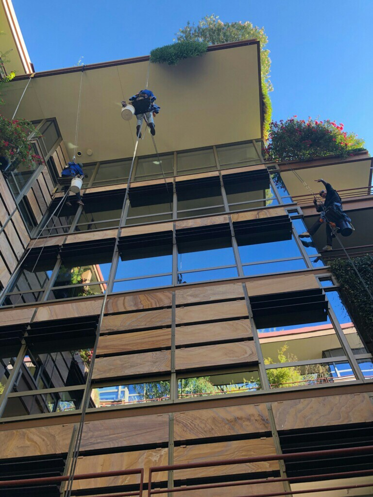Window cleaning high rise on O.C.V Scottsdale az