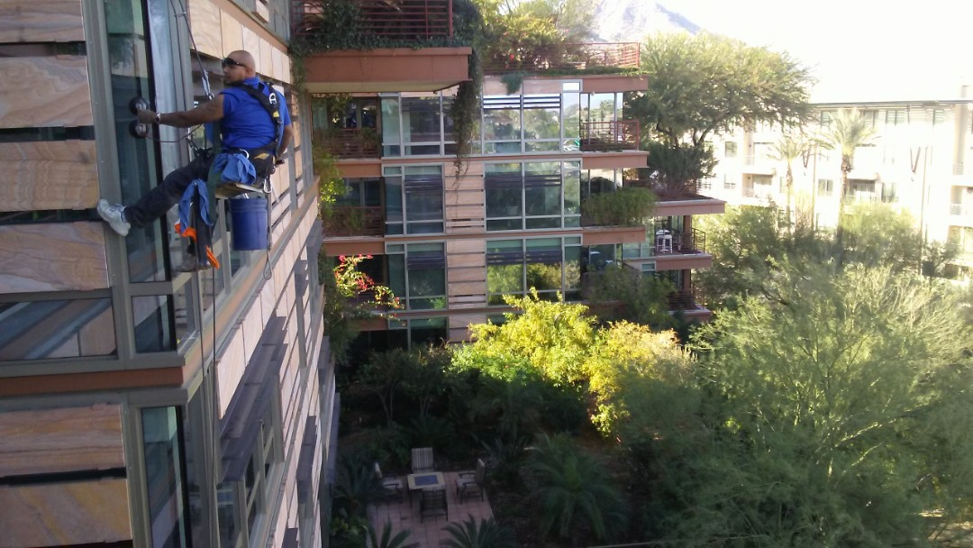 High rise window cleaning ocv