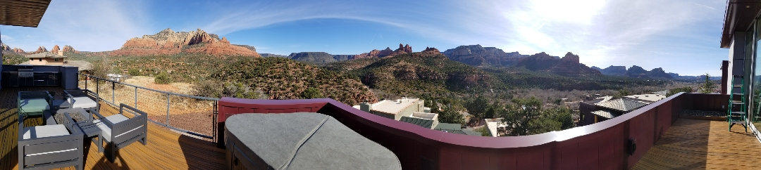 View from balcony in sedona