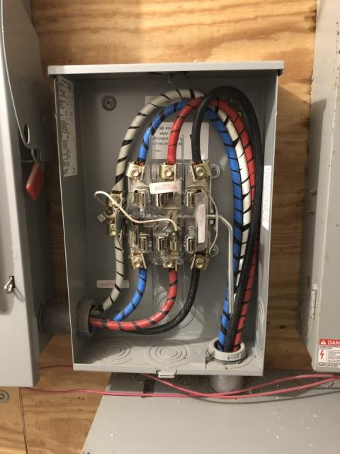 New 3 phase 200 amp by pass electrical meter pan - Scheduling Con Edison to install new meter.