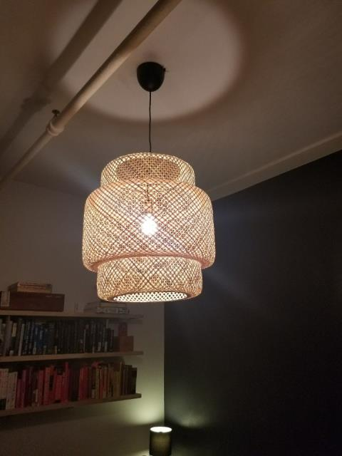 New decorative type lighting fixture installed