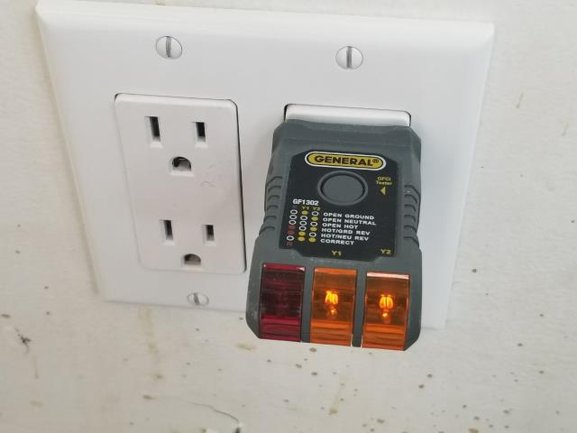 New electrical wiring for outlets in Milk Bar - Always testing proper connection with my plug in tester!
