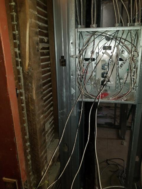 Installation of sub panel box for apartments - Branch circuit wiring for lighting and receptacles