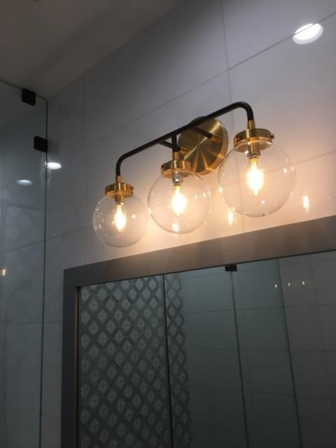 Decorative vanity Lighting Installation