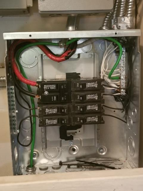 Install new 100 amp main breaker panel box