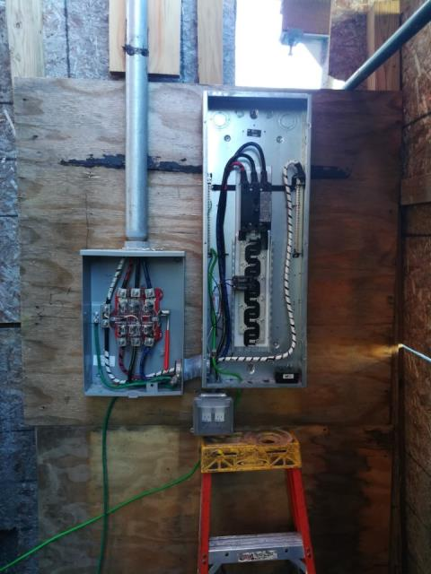 Electrical panel and meter installation for new construction site in Sheepshead Bay