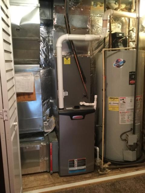 Owings Mills, MD - Working on a Lennox Air Conditioner and Gas Furnace installation for a great family in Owings Mill, MD