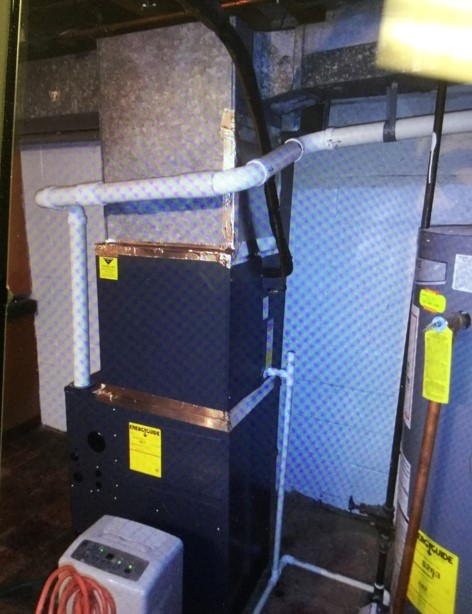 Dundalk, MD - Working on an Air Conditioner Replacement and Furnace Replacement for a great family in Dundalk, MD