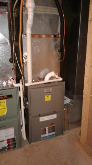 Parkton, MD - Working on a Furnace Installation for a great family in Parkton, MD