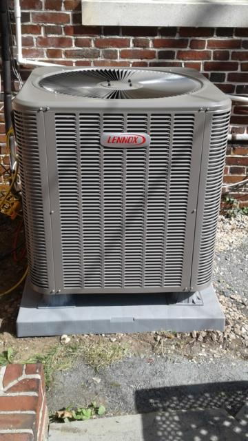 Finksburg, MD - Working on a Lennox Air Conditioner installation for a great family in Finksburg, MD