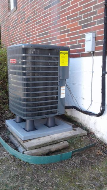 Working on a Heat Pump Installation for a great family in Bel Air, MD