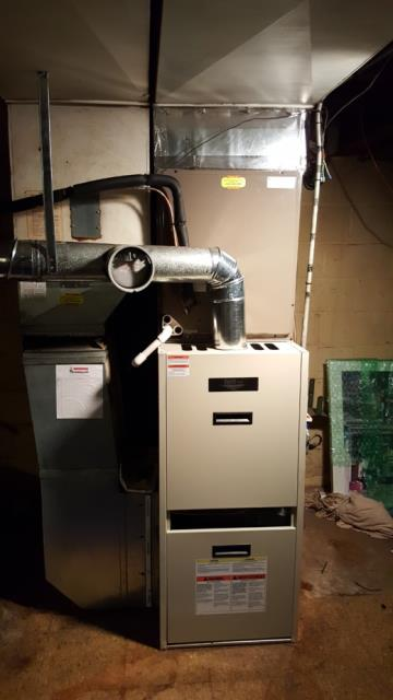 Glen Arm, MD - Working on an Air Conditioning Installation and Furnace Replacement for a great family in Glen Arm, MD