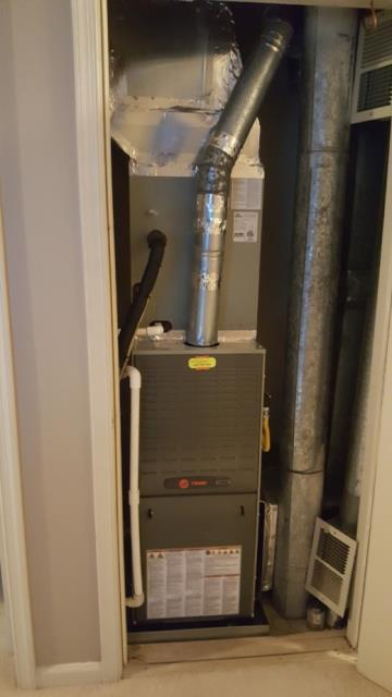 Oakton, VA - Working on an Air Conditioner Installation and Furnace Installation for a great family in Oakton, VA