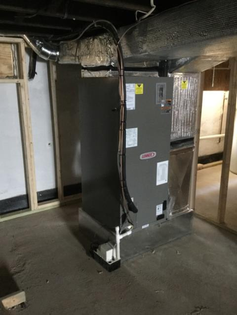 Sparrows Point, MD - Working on a Lennox Heat Pump Installation and Air Handler Installation for a great family in Sparrows Point, MD.