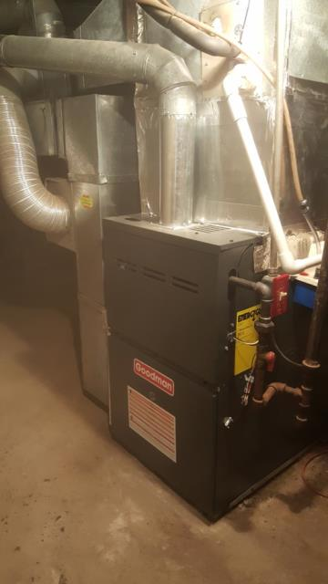 Elkridge, MD - Working on an Air conditioning system installation and gas furnace installation for a great family in Elkridge, MD.