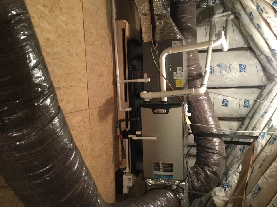 Towson, MD - Working on a Lennox Air Conditioner and Gas Furnace Installation for a great family in Towson, MD.
