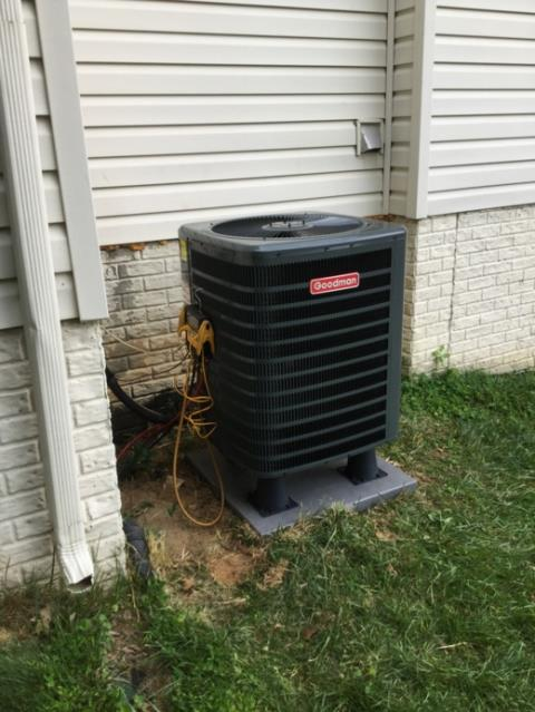 Clarksville, MD - Working on a Heat Pump Installation and Air Handler Installation for a great family in Clarksville, MD.