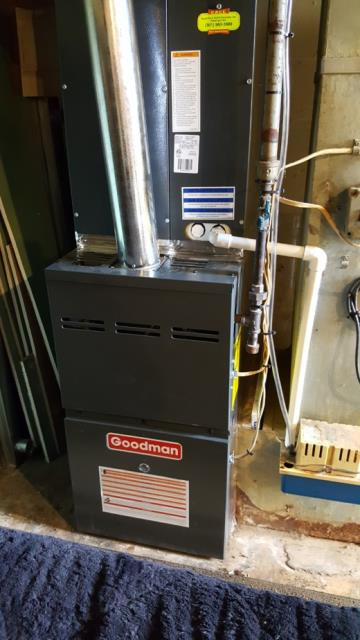 Marriottsville, MD - Working on an Air Conditioner Repair and Furnace Repair for a great family in Marriottsville, MD.