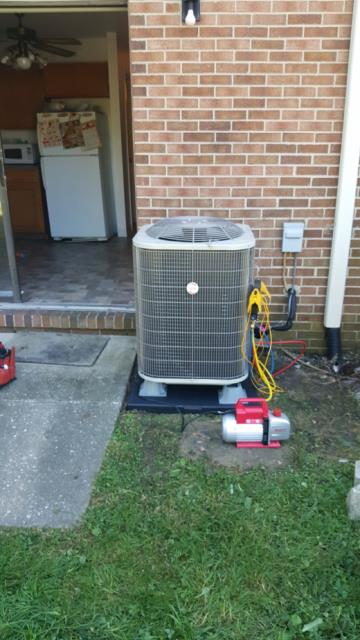 Randallstown, MD - Working on a Heat Pump and Air Handler installation for a great family in Randallstown, Maryland.