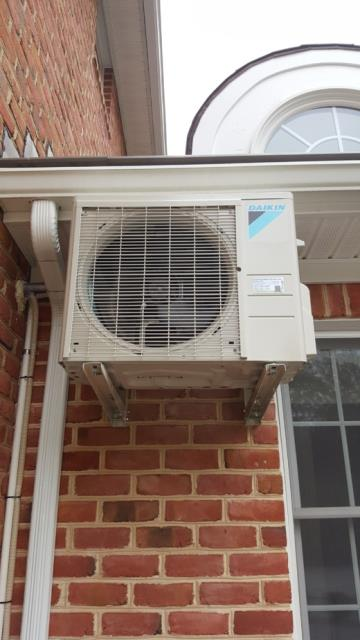Working on Heat Pump and Air Handler installation for a great family in West Friendship, Maryland.