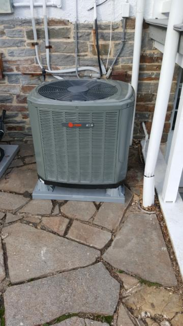 Working on Heat Pump and Air Handler installation for a great family in Windosr Mill, Maryland.