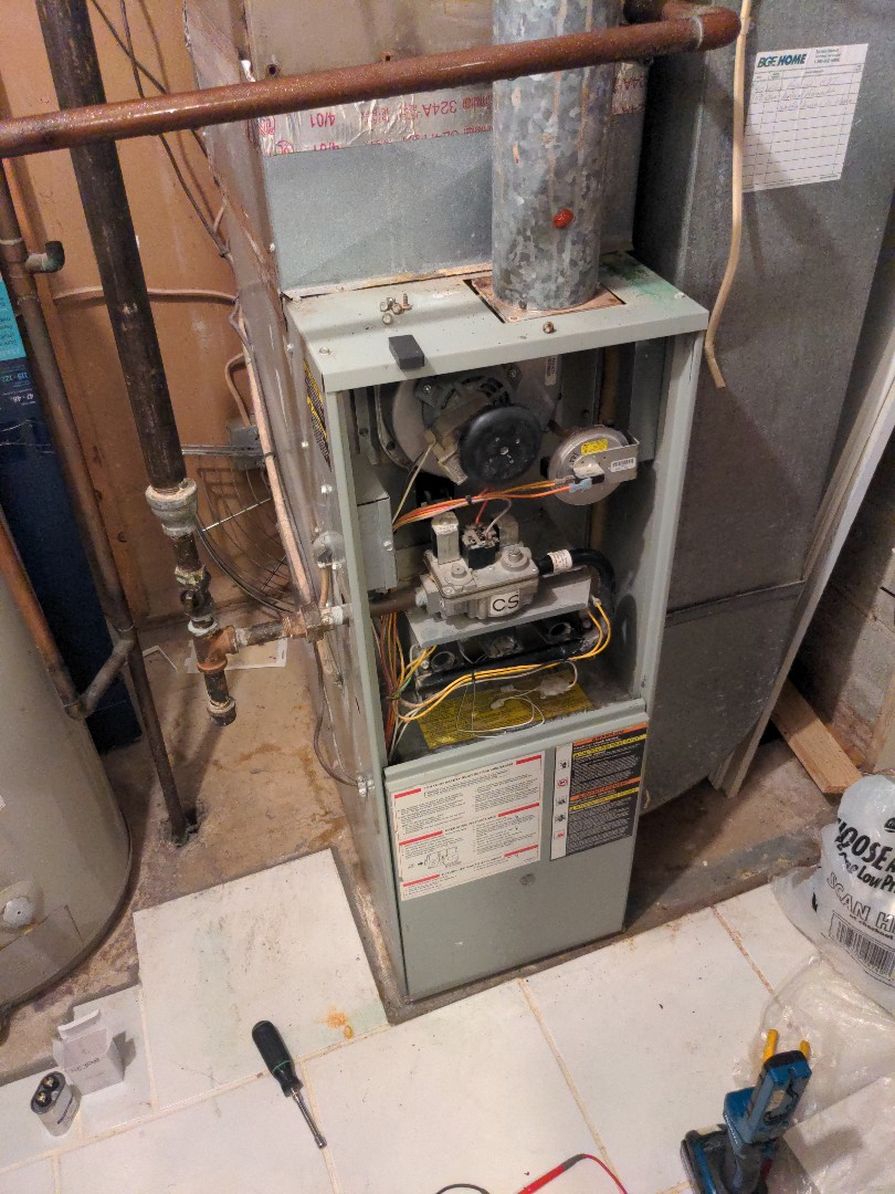 Columbia, MD - AC emitting a burning smell. Tech solved problem by replacing the secondary motor control.